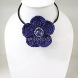 Flower Choker Necklace (Purple)