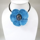 Flower Choker Necklace (ํSky Blue 01)