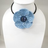 Flower Choker Necklace (ํSky Blue 02)