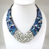 Shell V-Shaped Necklace Mix (BLU)