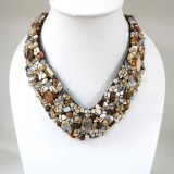 Shell  V-Shaped Necklace MIX (Cream)