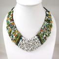 Shell V-Shaped Necklace MixCry (Green)