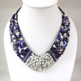 Shell V-Shaped Necklace Mix(Purple)