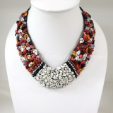 Shell V-Shaped Necklace Mix(Red)