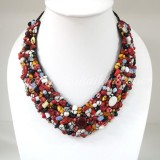 Shell  V-Shaped Necklace MIX (Red)