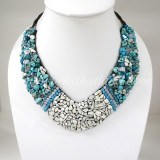 Shell V-Shaped Necklace Mix (Sky Blue)