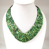 Shell V-Shaped Necklace (Green)