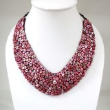 Shell V-Shaped Necklace (Pink)