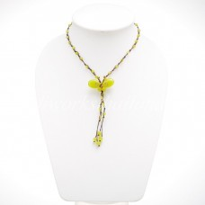 Butterfly Tail Necklace (Lemon Green)