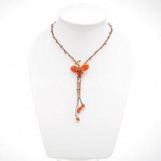 Butterfly Tail Necklace (Orange)