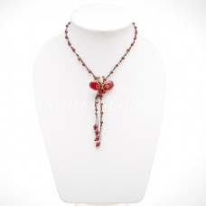 Butterfly Tail Necklace (Red)