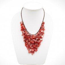 Shell V-Shaped necklace (Light Red)