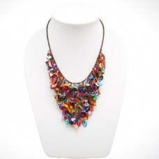 Colorful Shell V-Shaped necklace