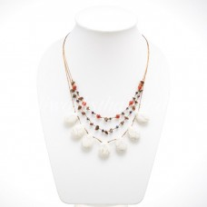 Teardrop Silk Thread Necklace size L (White Howlite )