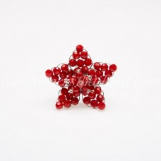 Star Crystal Ring (Red)