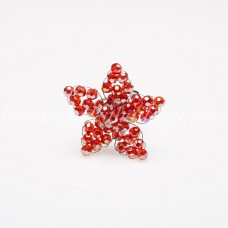 Star Crystal Ring (Light Red)
