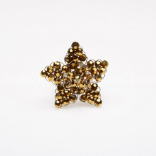 Star Crystal Ring (Gold Color)