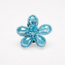 Crystal Flower Ring (Sky Blue)