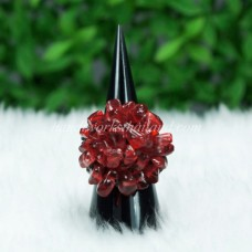 Stone Bush Ring (Red)