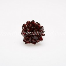Stone Bush Ring (Red Wine)