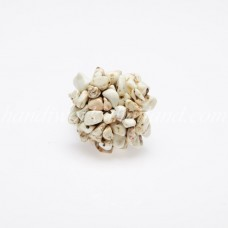 Stone Bush Ring White Howlite