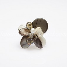 Shell Bead Mix Ring (Grey)