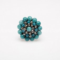Round Stone Bead Ring (Sky Blue)