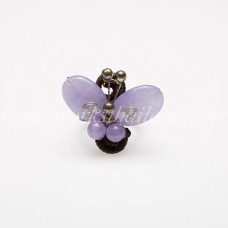 Butterfly stone ring (Purple)