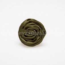 Silk Flower Ring (Green)