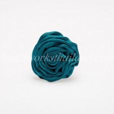 Silk Flower Ring (Ocean Blue)