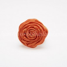 Silk Flower Ring (Orange)