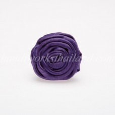 Silk Flower Ring (Purple)