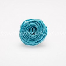 Silk Flower Ring (Sky Blue)