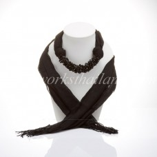Black Scarf Decorated With Onyx