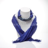 Blue Scarf Decorated With Lapis Lazuli